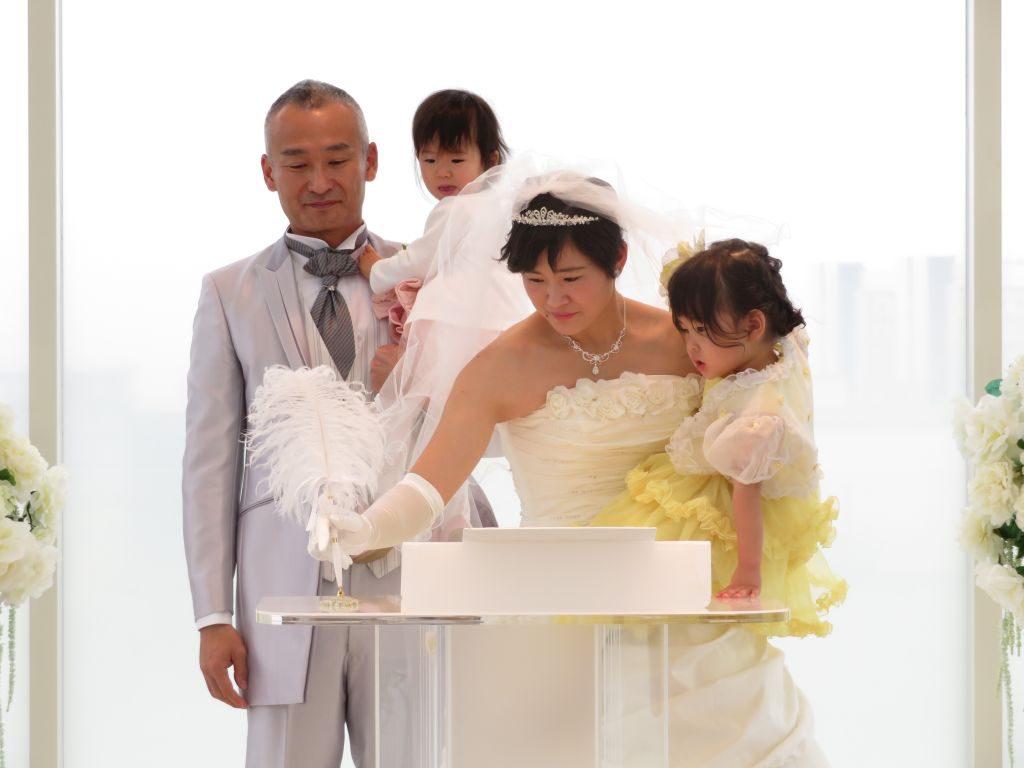 お子様といっしょに行ったアットホームな結婚式♡